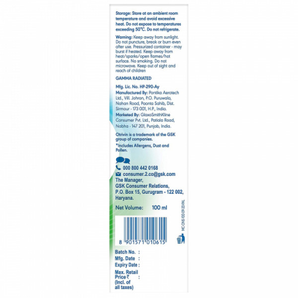 Otrivin Breathe Clean Isotonic Nasal Spray, 100ml