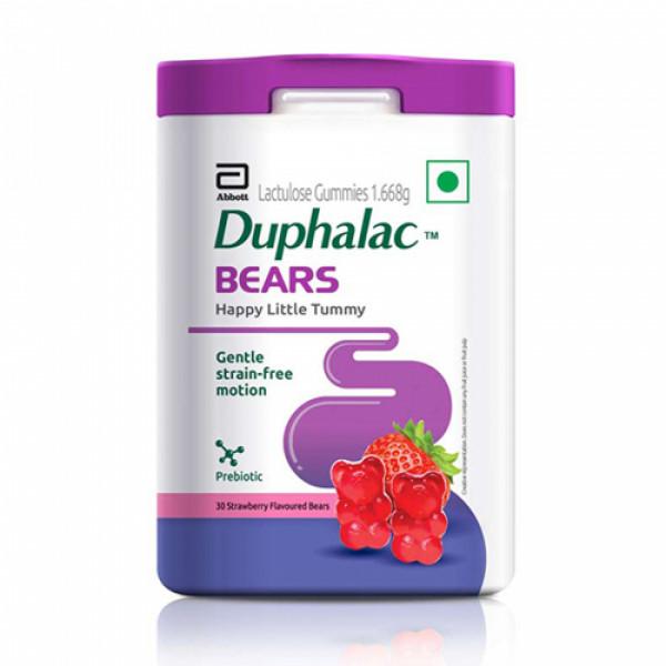 Duphalac Bears Chewable Strawberry, 30 Gummies
