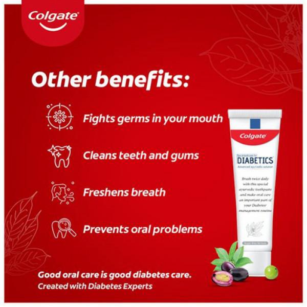 Colgate Diabetics Advanced Ayurvedic Solution Toothpaste, 70gm