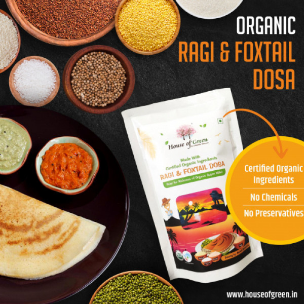 House of Green Ragi And Foxtail Dosa, 200gms