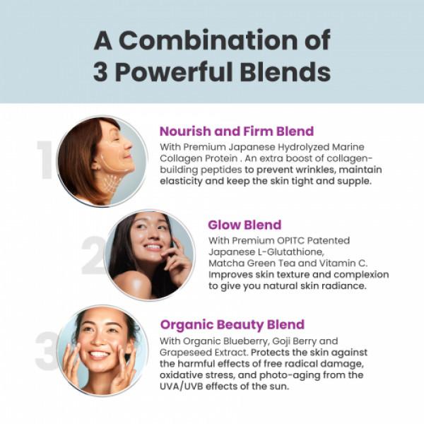 Wellbeing Nutrition Skin Fuel - Marine Collagen, L-Glutathione & Hyaluronic Acid, 90 Tablets