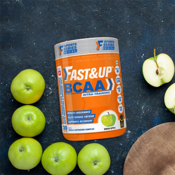 Fast&Up BCAA - Green Apple, 450gm