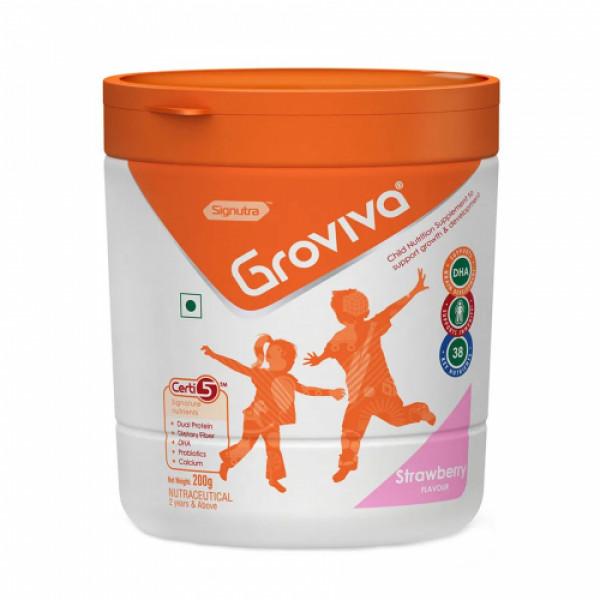 Groviva Child Nutrition Supplement Strawberry, 200gm