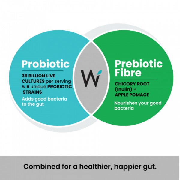 Wellbeing Nutrition Daily Probiotic + Prebiotic for Digestion & Gut Health, 21 Tablets (Pack of 6)