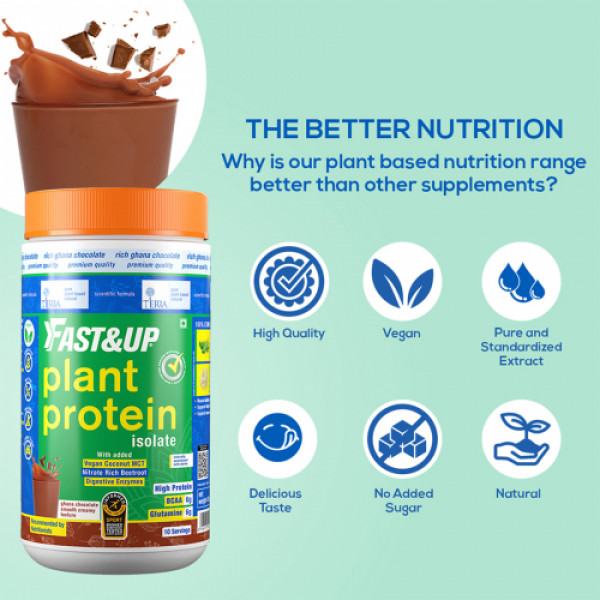 Fast&Up Plant Protein and Superfood Chocolate for Women, 450gm