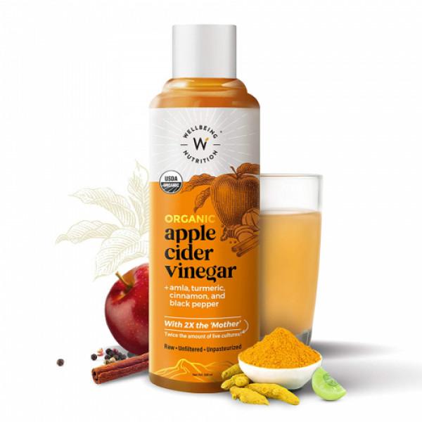 Wellbeing Nutrition Apple Cider Vinegar with Amla, Turmeric, Cinnamon & Black Pepper, 500ml