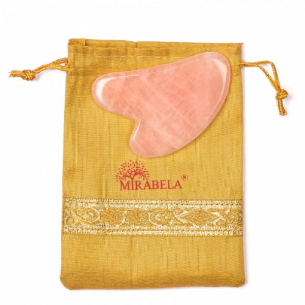 Mirabela Rose Quartz Gua Sha Heart Shaped