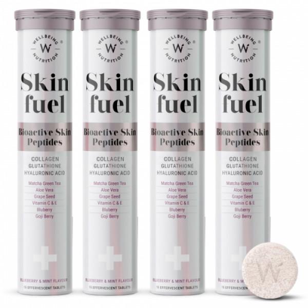 Wellbeing Nutrition Skin Fuel - Marine Collagen, L-Glutathione & Hyaluronic Acid, 60 Tablets