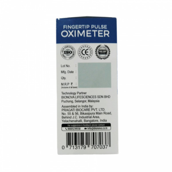 Bionova Fingertip OX3013 Pulse Oximeter