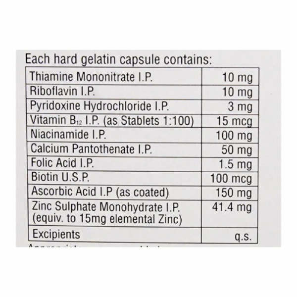 Becosules Z, 20 Capsules