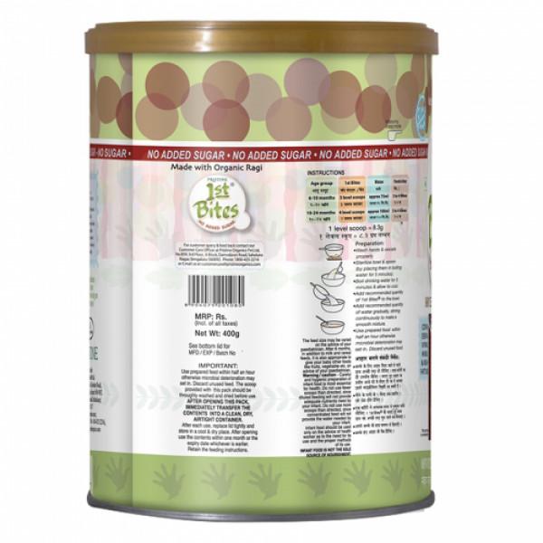 Pristine 1st Bites Organic Ragi Baby Cereal, 400gm (No Added Sugar)