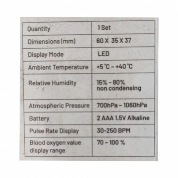 Zovec Poxy Fingertip Pulse Oximeter