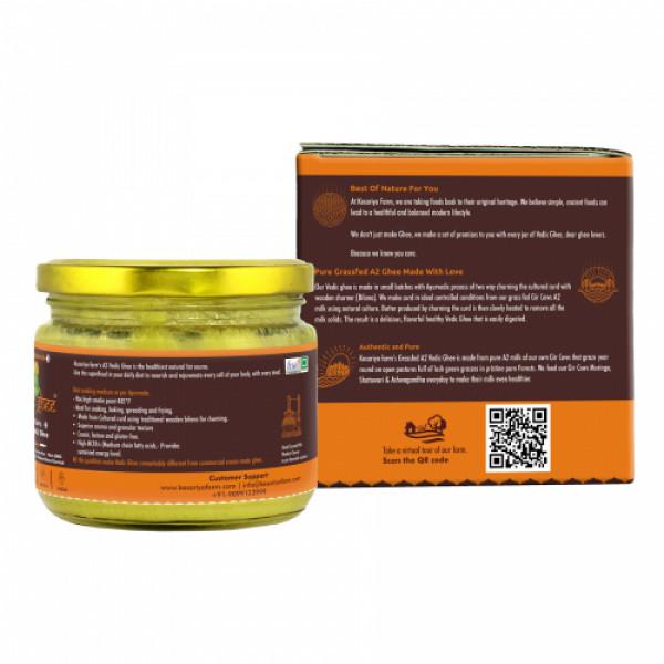 Vedic Ghee Premium A2 Gir Cow Cultured Ghee, 250ml
