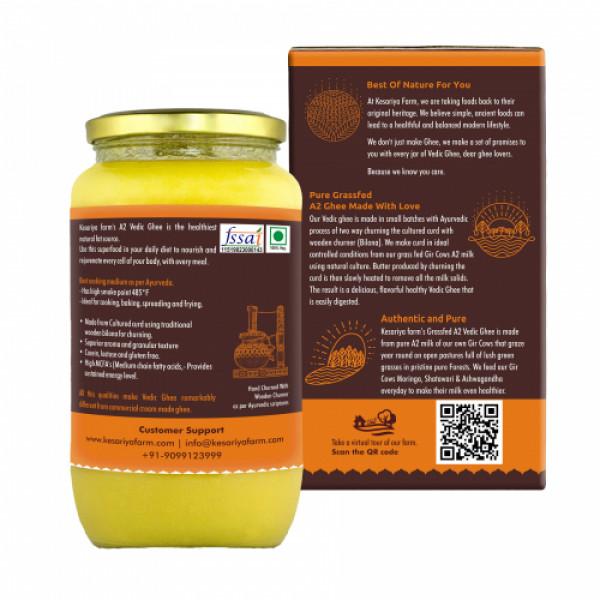 Vedic Ghee Premium A2 Gir Cow Cultured Ghee, 1000ml