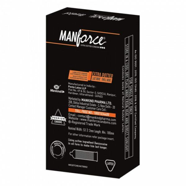 Manforce Orange Extra Dotted Condoms, 10 Pieces