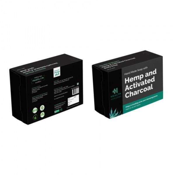 Health Horizons Hemp & Activated Charcoal Soap, 100gm