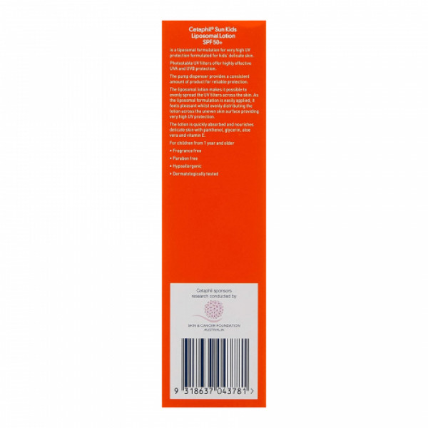 Cetaphil Sun Kids SPF50+ Very High Protection Liposomal Lotion, 150ml