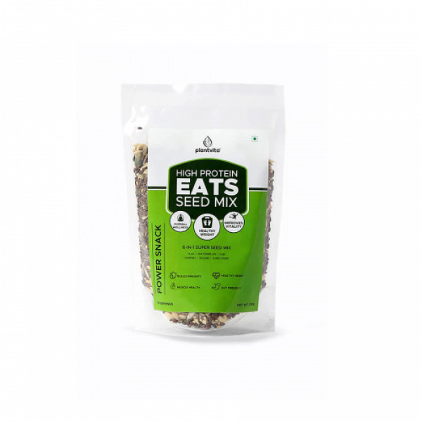 PlantVita Eats 6 in 1 Roasted Super Seeds Mix, 250gm