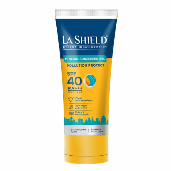 La Shield Pollution Protect Mineral Sunscreen Gel SPF 40, 50gm