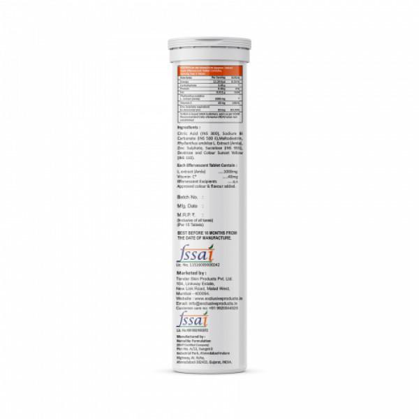 HealthyAf Vitamin C Effervescent Nutritional Supplement Orange Flavor, 15 Tablets (Pack Of 4)