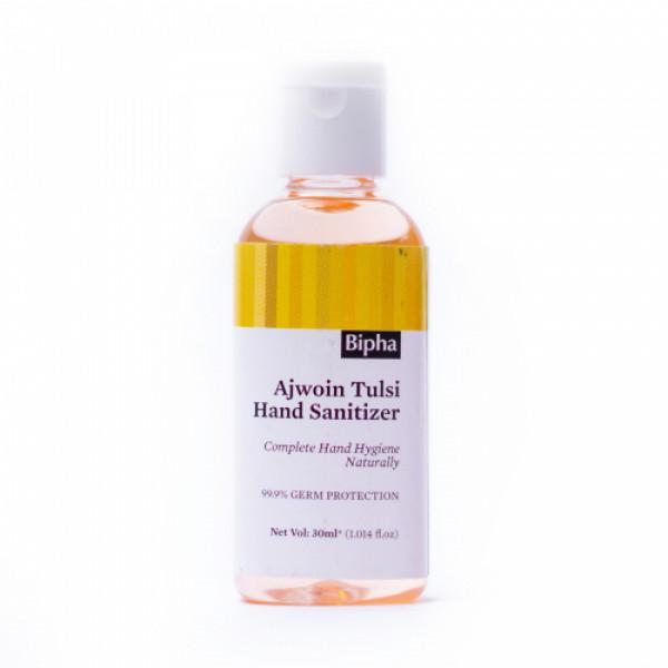 Bipha Ayurveda Ajwoin Tulsi Hand Sanitizer Liquid, 30ml