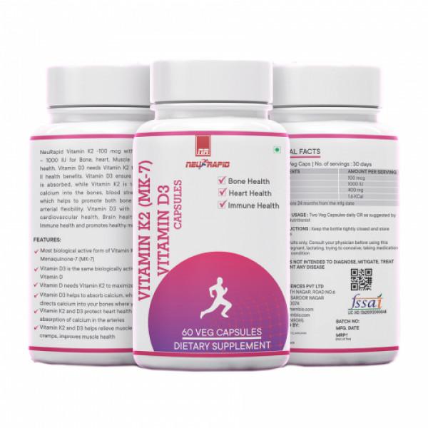 Neurapid Vitamin K2-MK7 D3, 60 Capsules