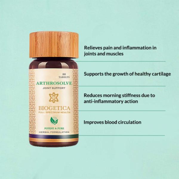 Biogetica Arthrosolve - Joint Support, 80 Tablets