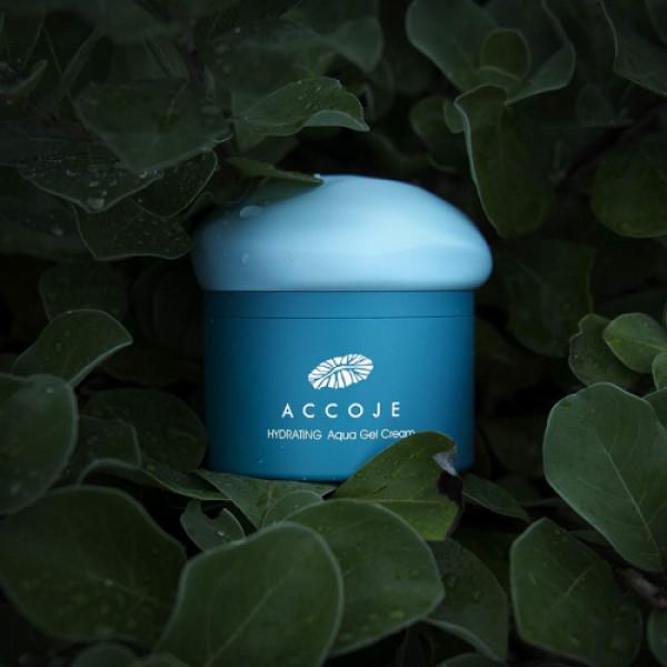 Accoje Hydrating Aqua Gel Cream + Vital in Jeju Purifing & Peeling Cleansing Foam, 200ml