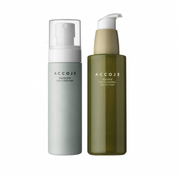 Accoje Reviving Dust Cleansing Gel to Foam + Protective Dust Screen Mist, 280ml