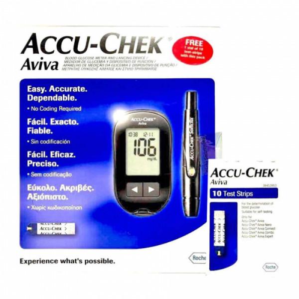 Accu-Chek Aviva Test Device with 10 Free Test Strips