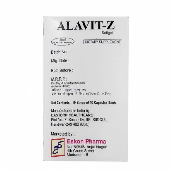 Alavit Z, 10 Softgels