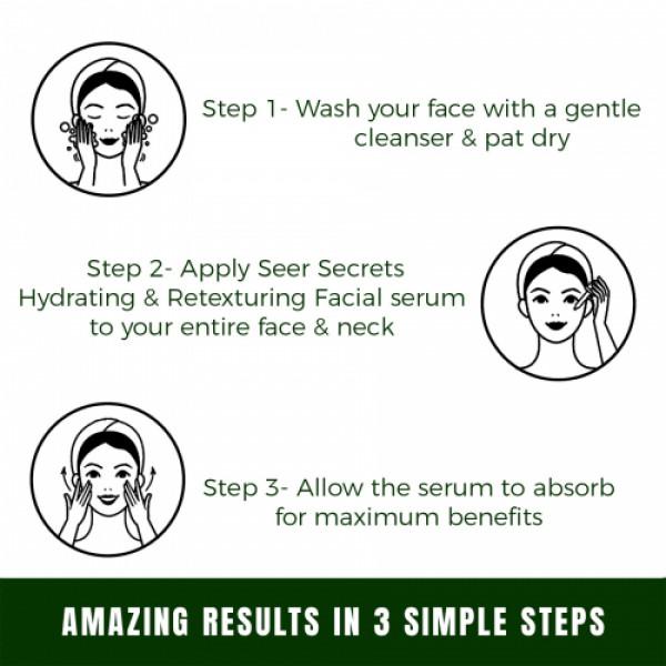 Seer Secrets Aloe Vera & Guduchi Hydrating & Retexturing Facial Serum, 30ml