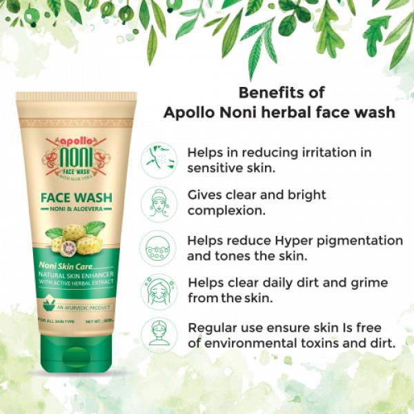 Apollo Noni With Aloevera Active Herbal Extract Facewash, 80ml