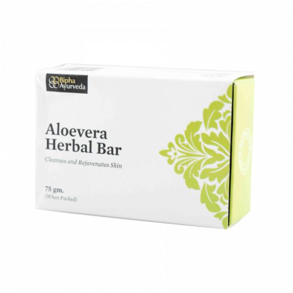 Bipha Ayurveda Aloevera Herbal Bar, 75gm