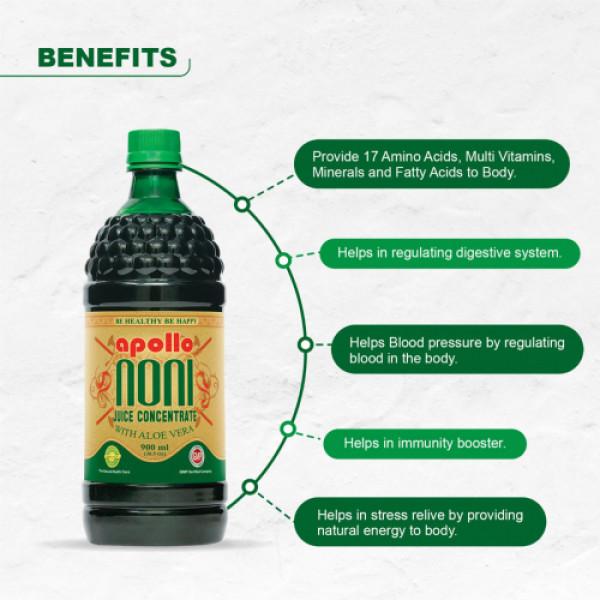 Apollo Noni With Aloevera Juice Concentrate, 900ml
