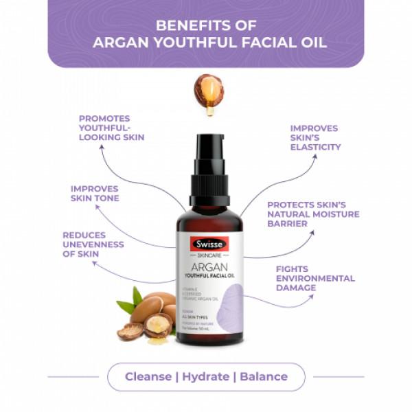Swisse Skincare Argan Youthful Facial Oil, 50ml