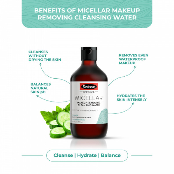 Swisse Skincare Micellar Makeup Removing Cleansing Water, 300ml