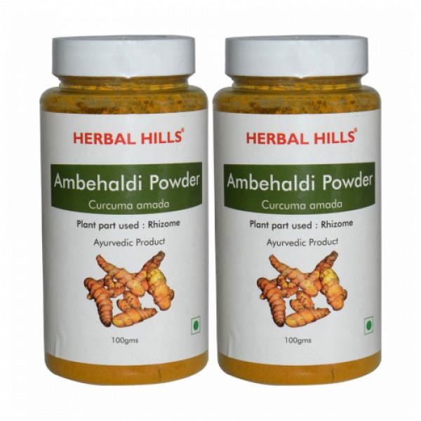 Herbal Hills Ambehaldi Powder, 100gm (Pack Of 2)
