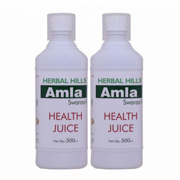 Herbal Hills Amla Swaras Health Juice, 500ml (Pack Of 2)