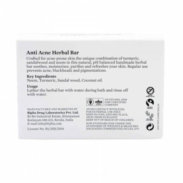 Bipha Ayurveda Anti Acne Herbal Bar, 75gm
