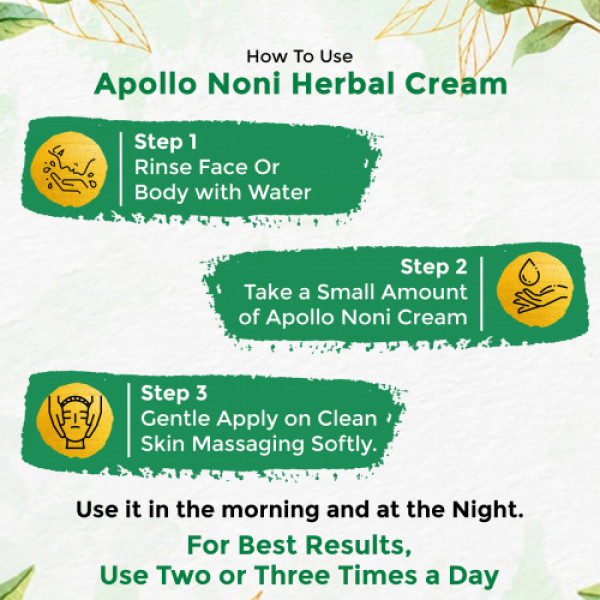 Apollo Noni With Aloevera Natural Skin Enhancer Cream, 100gm