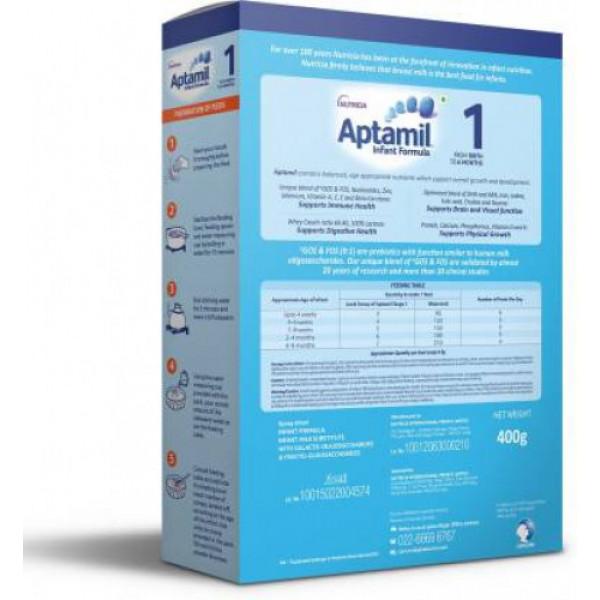 Aptamil Stage 1 Infant Formula Refill Pack, 400gm