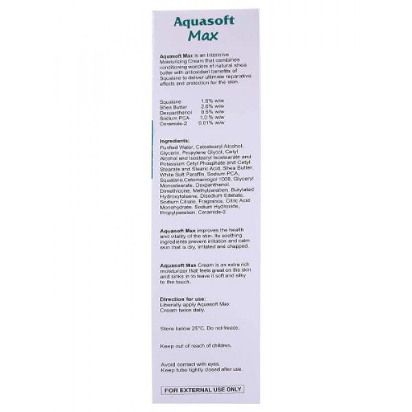Aquasoft Max Intensive Moisturizing Cream, 100gm