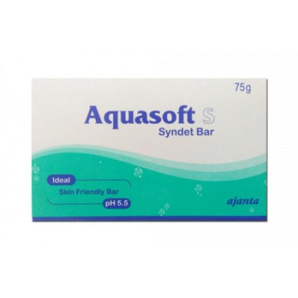 Aquasoft S Syndet Bar, 75gm