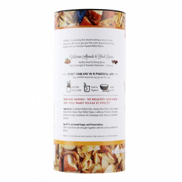 Sirimiri Premium Toasted Millet Muesli With Almonds & Raisins, 500gm