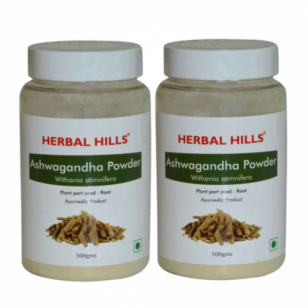 Herbal Hills Ashwagandha Powder, 100gm (Pack of 2)
