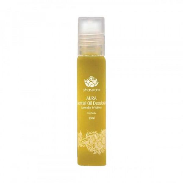Shankara Aura Essential Oil Deodorant - Lavender & Vetiver, 10ml