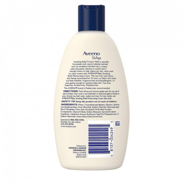 Aveeno Baby Soothing Relief Moist Creamy Wash, 236ml