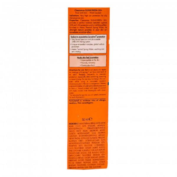 Avene Very High Protection Cleanance Sunscreen SPF 50, 50ml