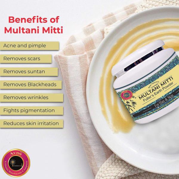 Avnii Organics Multani Mitti Fuller's Earth Powder, 150gm